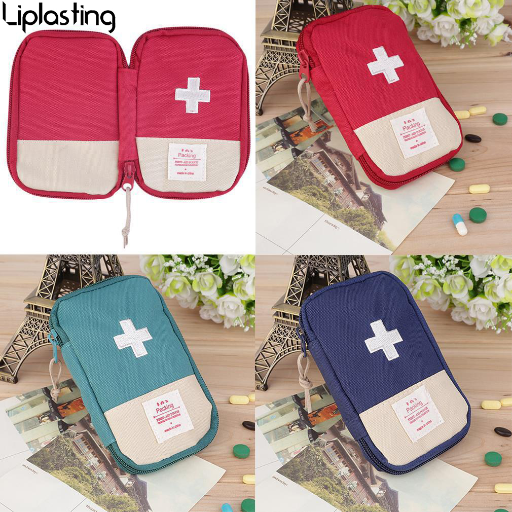 1pc Portable Outdoor Travel First Aid Kit Medicine Bag Home Small Medical Box Emergency Survival Pill Case Red Green Blue Modern Design