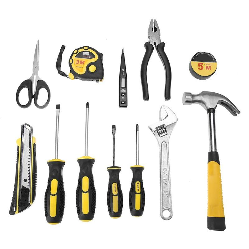 13 pz Cacciavite Chiave Chiave di Taglio Pinze Famiglia Fix Tool Set Kit13 pz Cacciavite Chiave Chiave di Taglio Pinze Famiglia Fix Tool Set Kit