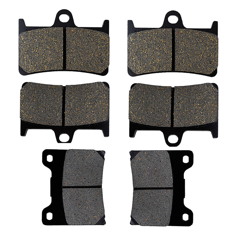 AHL Motorcycle Front and Rear Brake Pads For YAMAHA YZF 600 R YZF600R YZF 1000 R 1997-2007 Black Brake Disc Pad