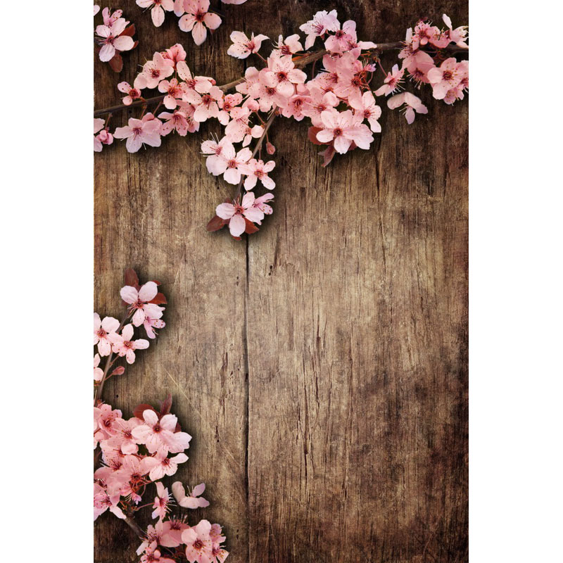 Seamless Vinyl Photography Backdrop Wooden Floor Flower Newborn Computer Printed Children Backgrounds for Photo Studio F-3214 seamless vinyl photography backdrop path with sakura flower tree computer printed nature backgrounds for photo studio f 3167