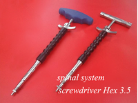 Orthopedics instrument spinal system use stainless seel hex 3.5 screwdriver universal screwdriver