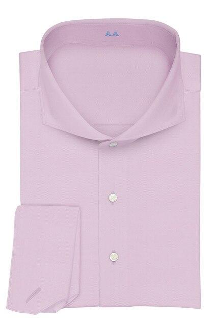 Col découpé à deux boutons, 100% coton, neuf couleurs, coupe cintrée de douanes, concevez votre propre chemise, offre spéciale