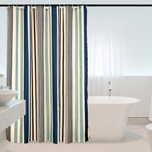 цена на Vertical Stripes Elegant Polyester Fabric Shower Curtain Mildew Resistant Washable Bathroom Curtain Waterproof  Bath Curtains