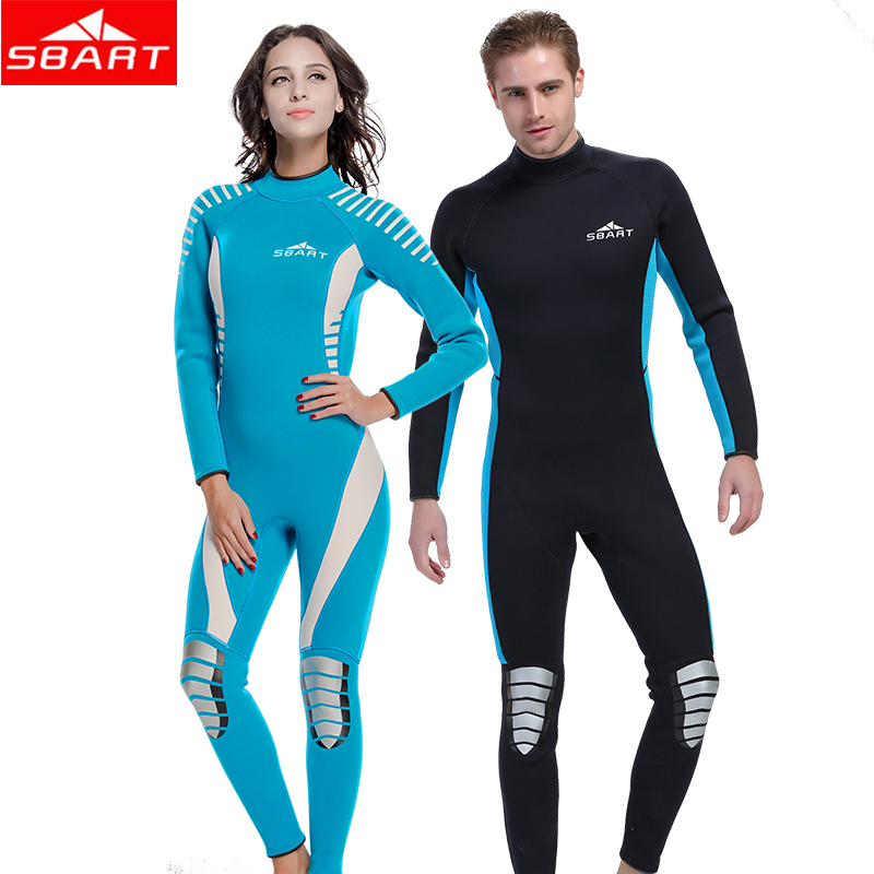 SBART 3MM One-Piece Wetsuit Neoprene Women Men Scuba Diving Spearfishing Wet Suit Keep Warm Scuba Diving Sport Wear Wetsuits men s winter warm swimwear rashguard male camouflage one piece swimsuit 3mm neoprene wetsuit man snorkeling diving suit