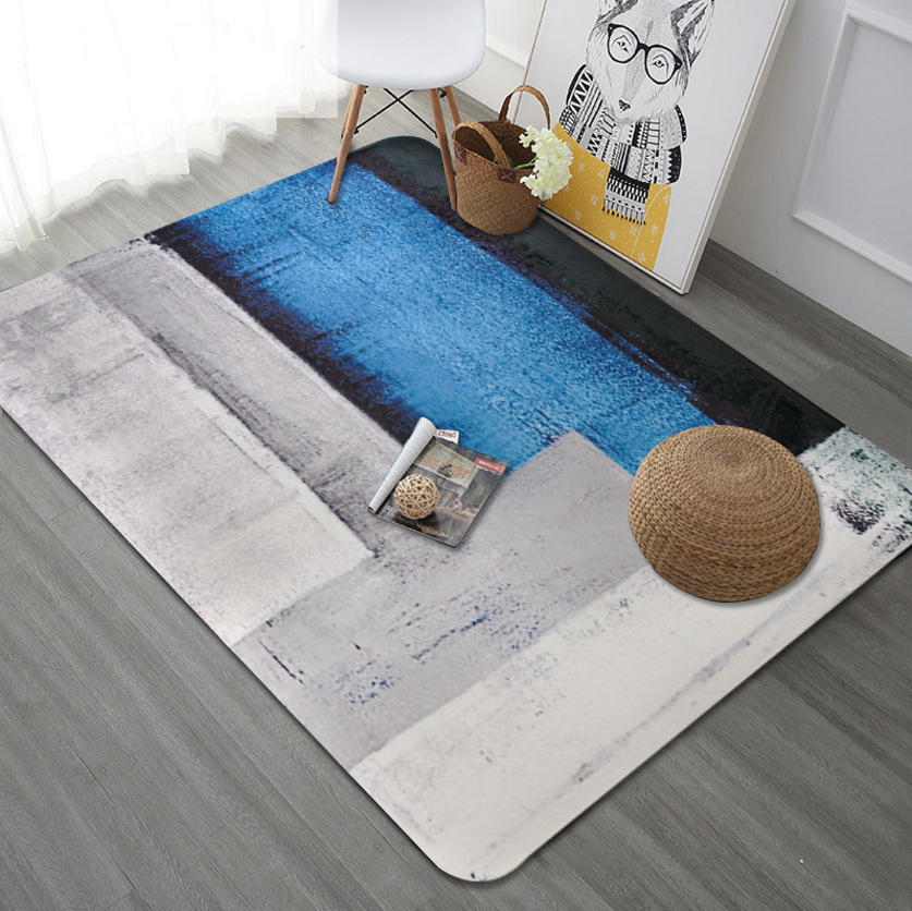 Mood fantasy series big size carpet 150x200cm Living room bedroom mat  Color graffiti velvet printed non-slip rug customize