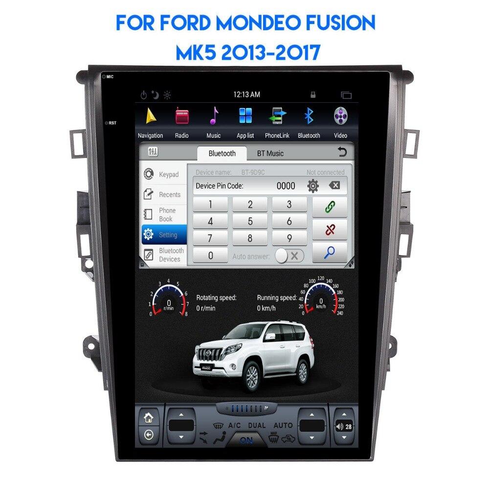 Tesla Style Android 8.1 autoradio stéréo GPS Headunit pour Ford Fusion Mondeo MK5 2013 2014 2015 2016 2017 stéréo multimédia Auto