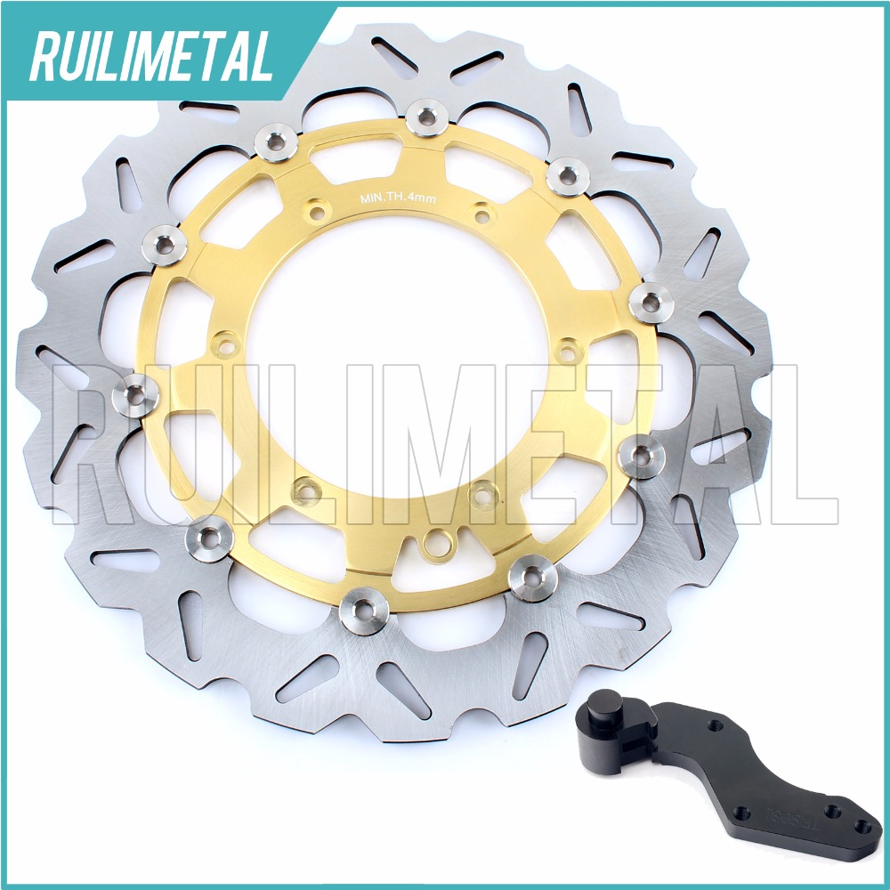 320mm oversize Front Brake Disc Rotor Bracket Adaptor for KTM EXC 250 G F GS MX MXC SX SXS XC W 300 2006 2007 2008 06 07 08 high quality 270mm oversize front mx brake disc rotor for yamaha yz125 yz250 yz250f yz450f motorbike front mx brake disc