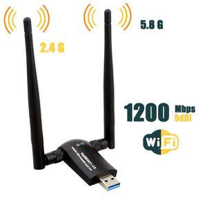 Image 2 - USB Không Dây Wifi, 1200Mbps Băng Tần Kép 2.4 GHz/300 Mbps 5 GHz/867 Mbps Dual 5Dbi Ăng Ten Mạng Wifi USB 3.0 Dành Cho Máy Tính Để Bàn