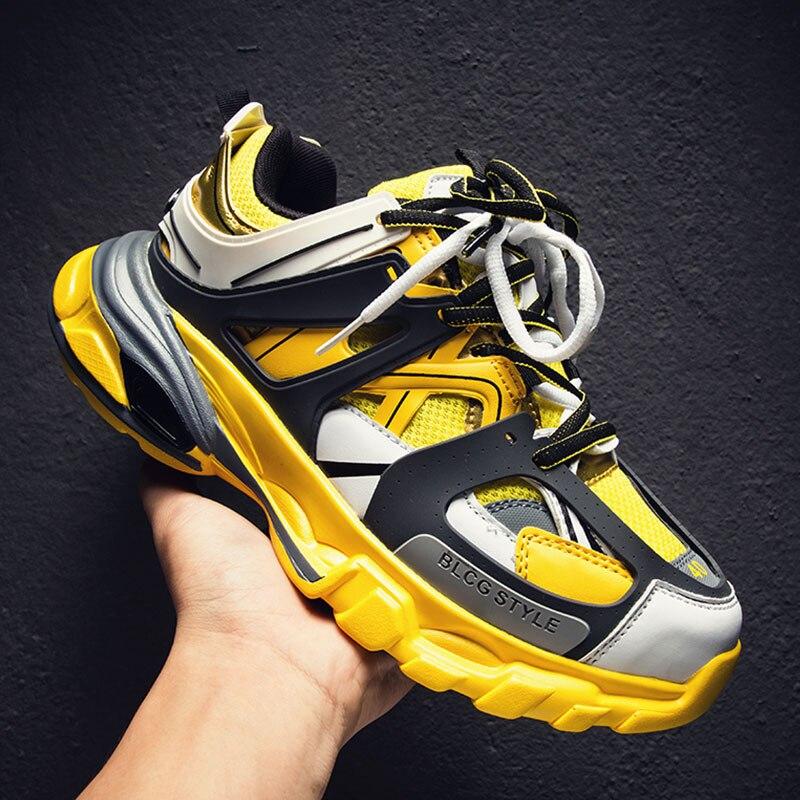 Balencia de primavera de los hombres transpirables Zapatos de deporte al aire libre de los hombres zapatos ligero zapatillas de deporte Hombre Krasovki SUROM nuevos zapatos de moda