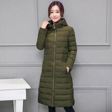 Зимние женщин Мода Вниз Теплое Пальто 2016 высокое качество дамы пуховик длинный жакет