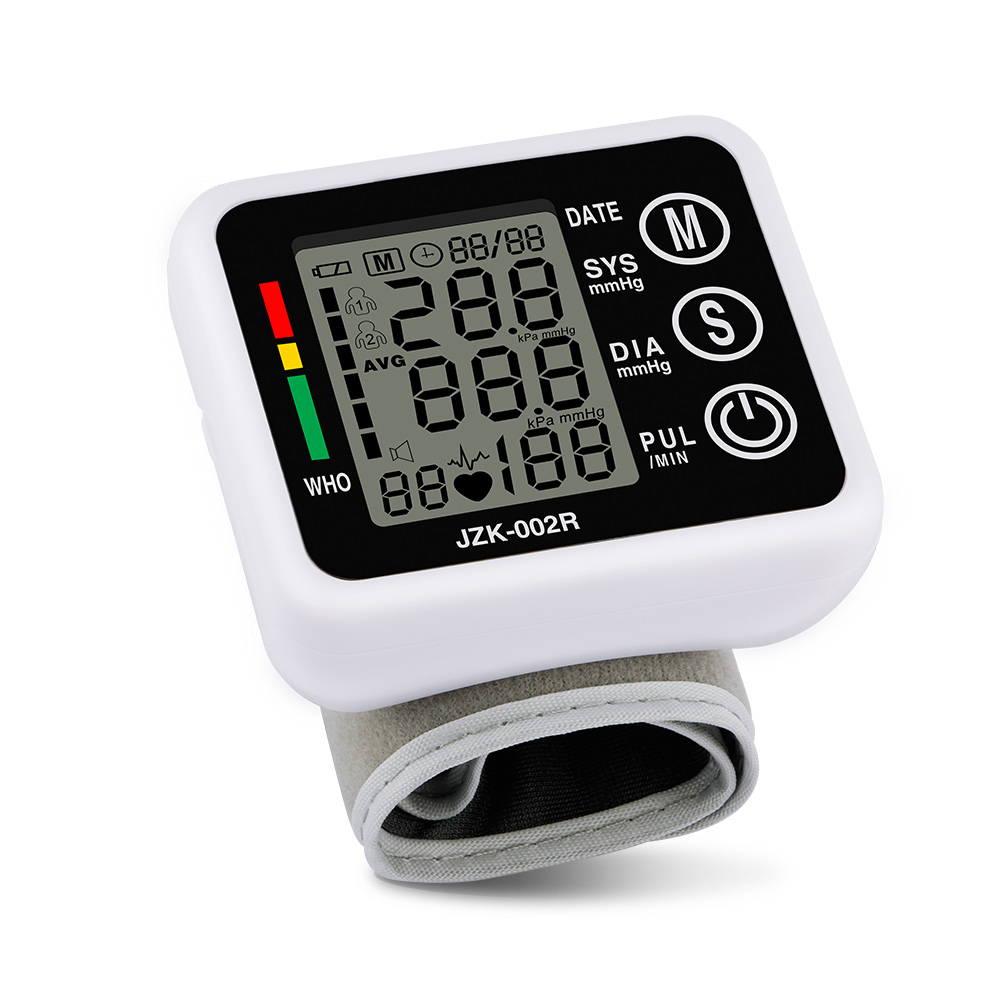 2017 New Health Care Germany Chip Automatic Wrist Digital Blood Pressure Monitor Tonometer Meter for Measuring And Pulse Rate blood pressure monitor automatic digital manometer tonometer on the wrist cuff arm meter gauge measure portable bracelet device