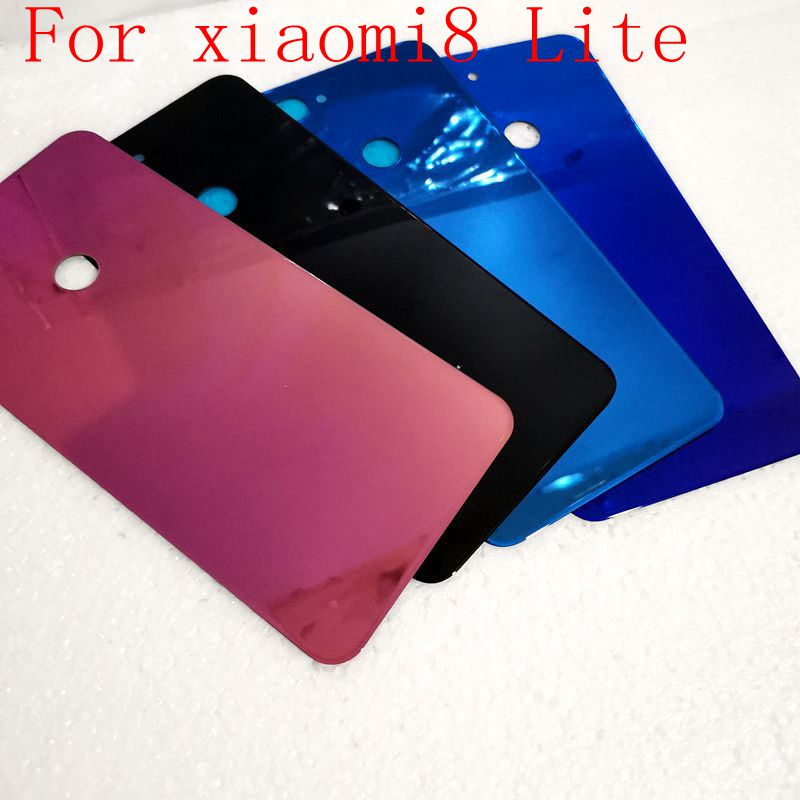 For xiaomi8 mi8 Lite Housing For <font><b>Xiaomi</b></font> <font><b>Mi</b></font> <font><b>8</b></font> Lite <font><b>Battery</b></font> Door Glass Back <font><b>Cover</b></font> Mobile Phone Replacement Parts Case image