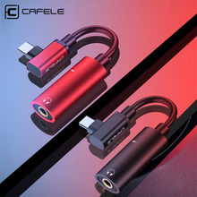 Cafele Mini Type C to 3.5mm USB Cable For Xiaomi 9 2 In 1 OTG Connector Huawei P20 30 Earphone Audio Adapter Splitter