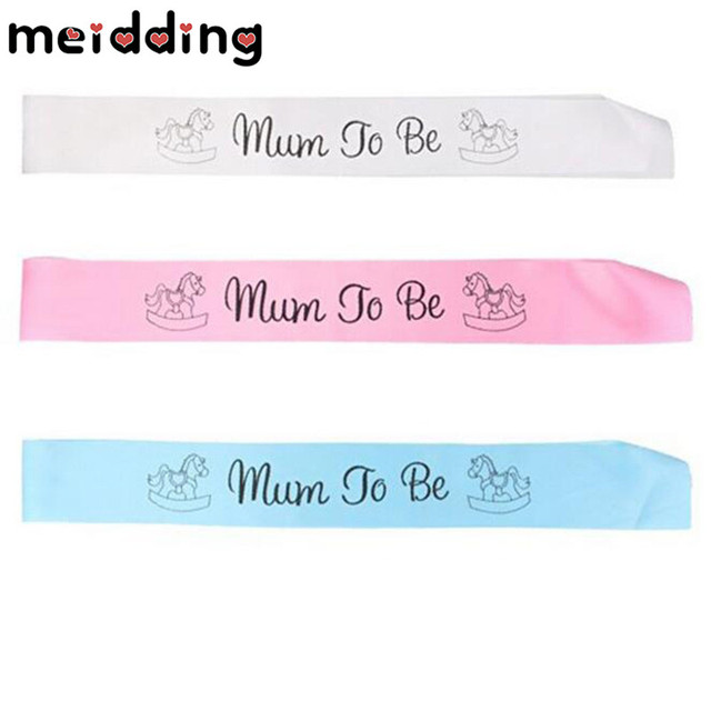 Meidding 1pcs 3color Mom To Be Letter Satin Ribbon Sash Wedding