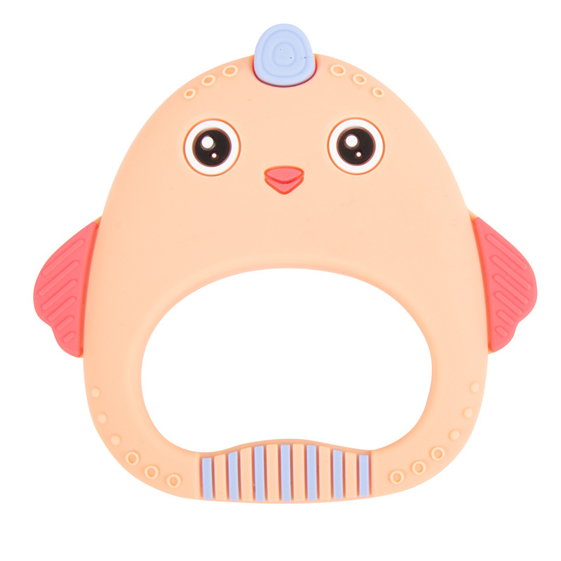 Baby Silicone Teething  Sound Teether Newborn Chewable Nursing  Teether Natural Stop Sucking Thumb Toy Stick Baby Animal Toys