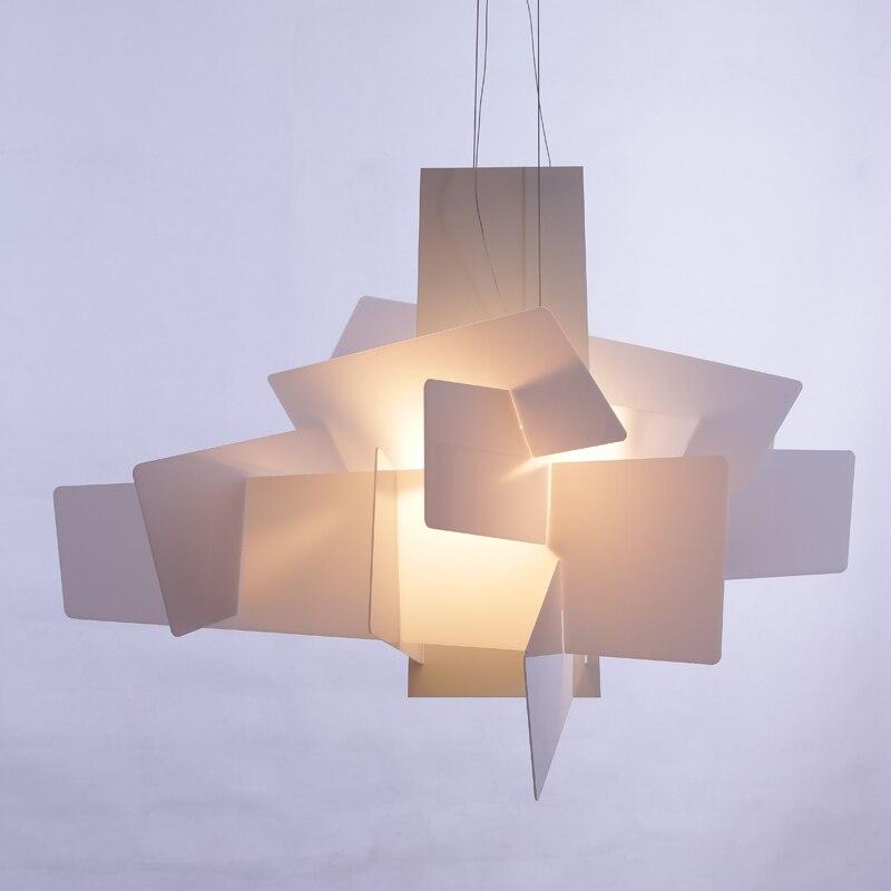 Moderno creativo rosso piastra in acrilico di design FAI DA TE cuciture lampadario Nordic semplice HA CONDOTTO LA lampadina ristorante illuminazione decorativa