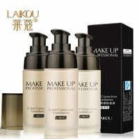 Laikou branqueamento cobertura completa fulid líquido corretivo fundação hidratante natural-controle de óleo à prova d40 água maquiagem cosméticos 40g