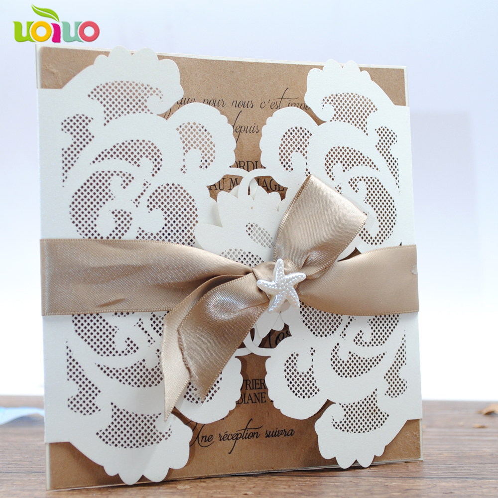 Us 7 5 Card Product Type And Paper Material Laser Cut Wedding Invitation Card Happy Birthday Invitation Card In Cards Invitations From Home