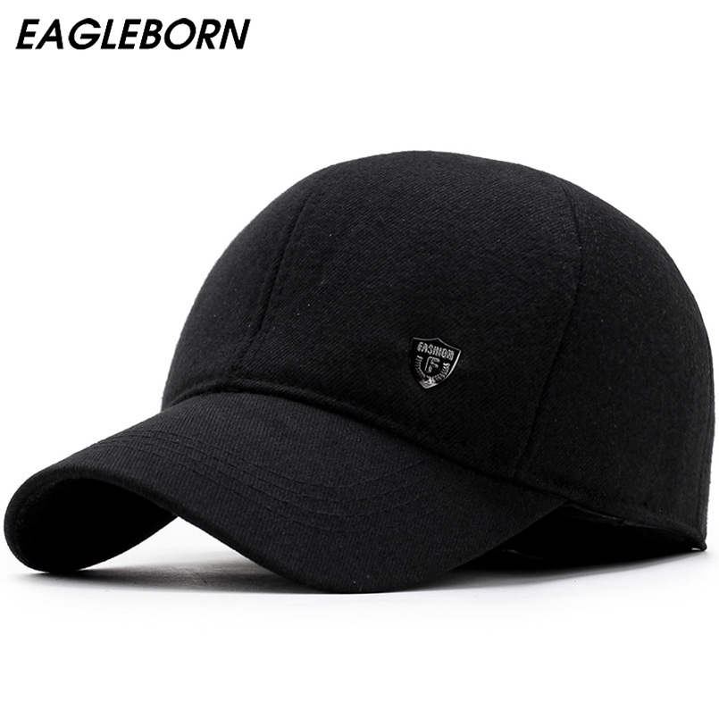 2019 Men Snapback   Baseball     Cap   Brand Bone homme Earflaps Dad Hats For Men Gorras Casquette Chapeau Thicken Warm Winter Hat
