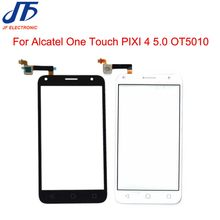 10 teile/los Touch panel Für Alcatel One Touch PIXI 4 5,0 OT 5010 5010D 5010E 5010g 5010 s 5010X touchscreen Digitizer Glas(China)