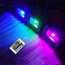 110 В 220 в 240 10 Вт 20 30 50 rgb Светодиодный прожектор светильник