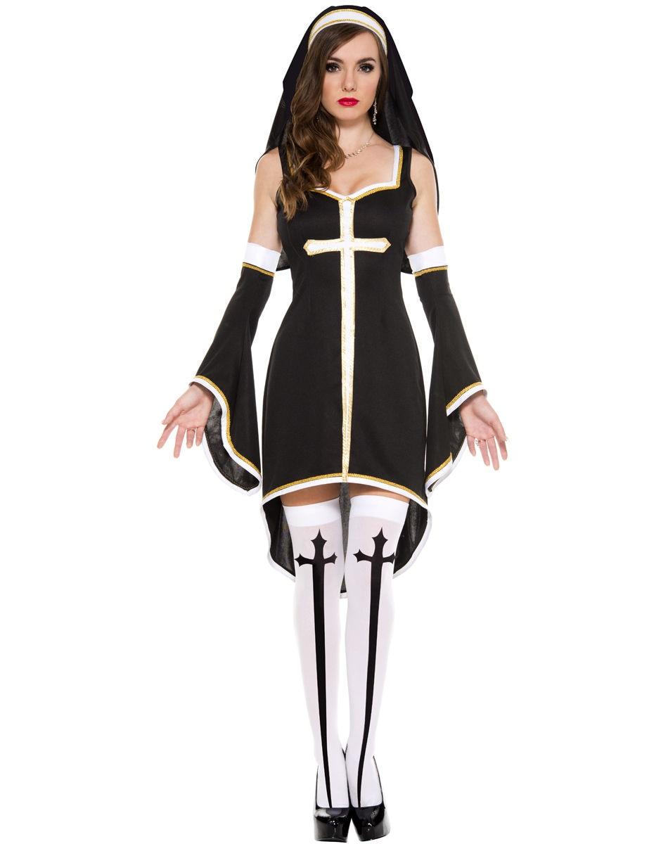 vocole women sexy naughty sister nun costume halloween hens party fancy dresschina mainland - Naughty Costumes For Halloween