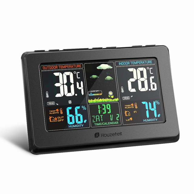 Wireless Weather Station Clock Digital Thermometer Hygrometer ...