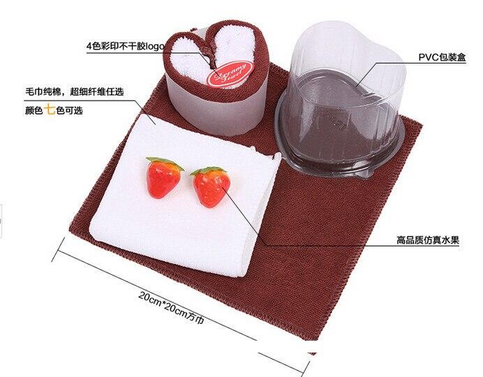 eper gyümölcs party esküvői ajándék szép torta törölköző - Lakástextil