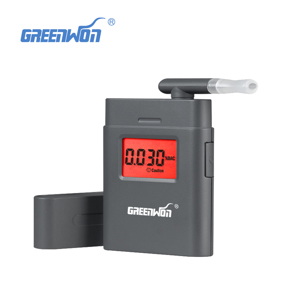 with 360 degree rotating mouthpiece breathalyzer alcohol tester
