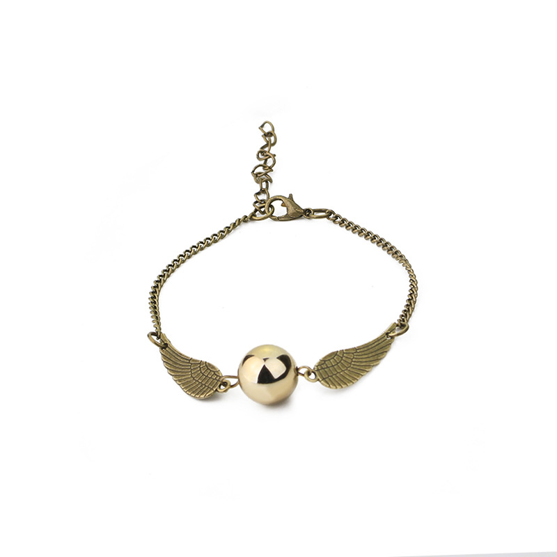 100pcs lot Hot Sale Movie Harry And The Golden Snitch Bracelet For Women Men Fashion Jewelry