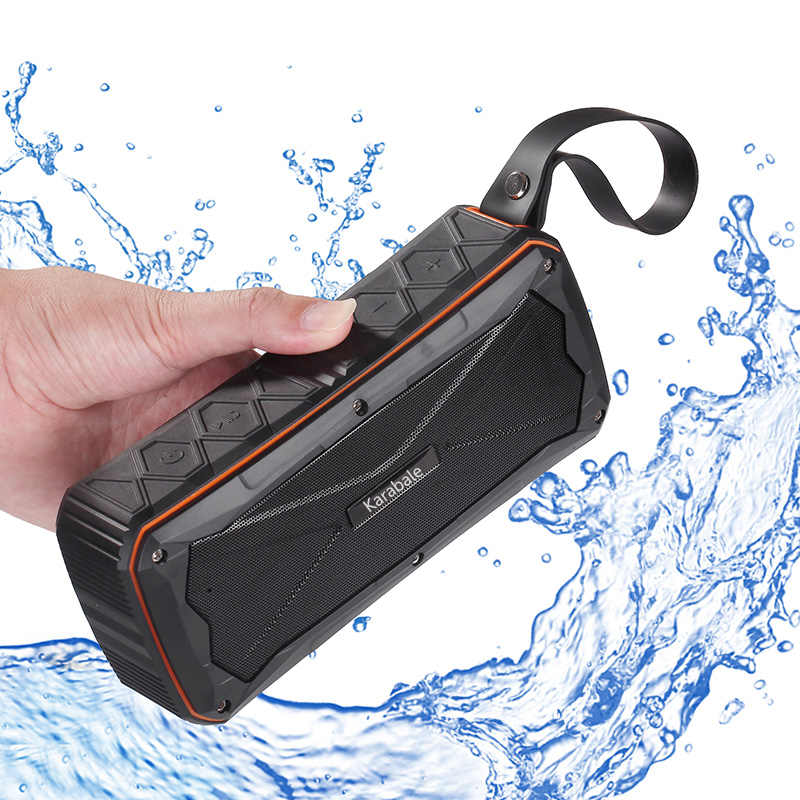 16W Heavy Bass Waterproof Outdoor Bluetooth Speaker 4500mAH Power Bank Portable 3D Stereo Wireless Riding Sport Speaker TF Mic
