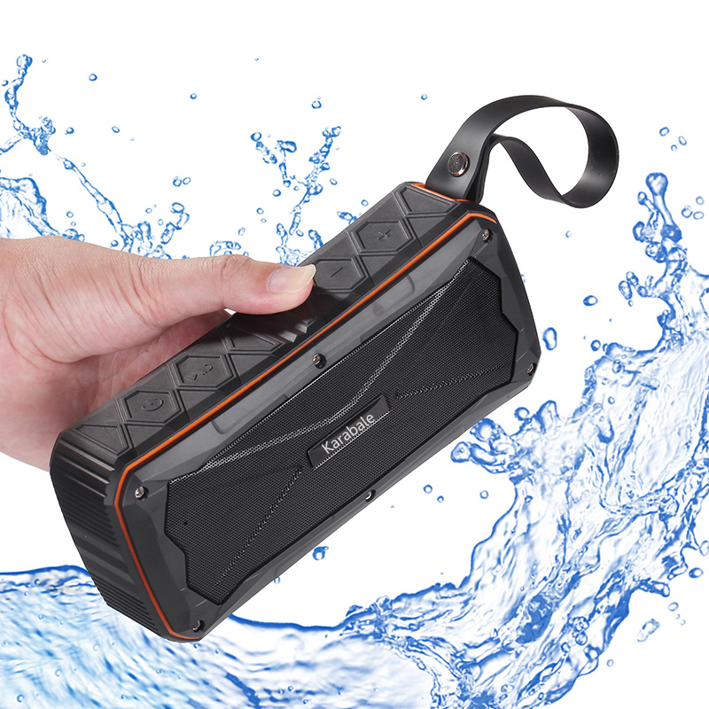 16W Heavy Bass Waterproof Outdoor Bluetooth Speaker With 4500mAH Power Bank 3D Stereo And Mic