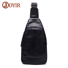 JOYIR Genuine Leather Crossbody Bags for Men Messenger Chest Bag Casual Single Shoulder Strap Back Bags Leather Travel Bag 6325 joyir leather messenger shoulder bags travel genuine leather chest bag strap sling casual chest pack crossbody bags for men new