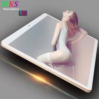 O envio gratuito de 10 polegada 3G/4G telefone tablet pc android 7.0 octa núcleo 4 GB + 64 GB 1920*1200 IPS dual sim card wifi Bluetooth tablets PC