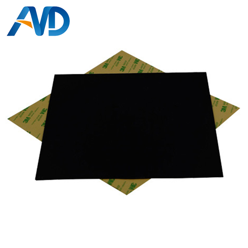 2pcs*120/8''/214mm/220mm/10''/12''/16''PEI Frosted Black 3D Pring Build  Surface Polyetherimide Cold PEI Sheet 0.5mm thickness
