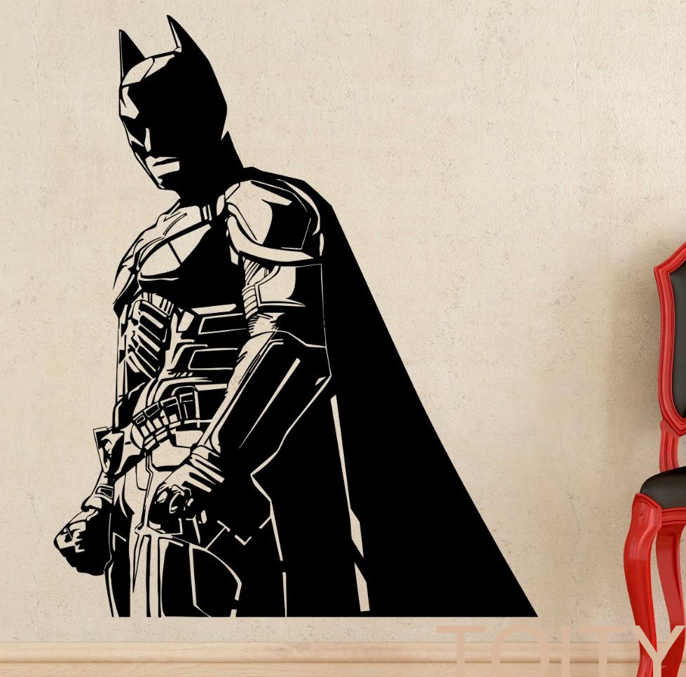 Buy batman wall sticker dark knight for Dark knight mural