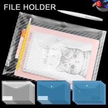 купить Briefcase Bag Office Business A4 Transparent File Bags Envelope Folder PP Tear Resistant Waterproof Document Student Clear Bag по цене 374.5 рублей