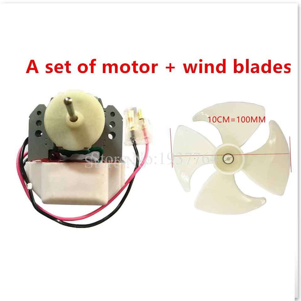 New Good Working For Refrigerator Fan Motor 220V 6.5W YZF-1-6.5-R Cooling Fan Motor A Set Of Motor + Wind Blades 1pcs