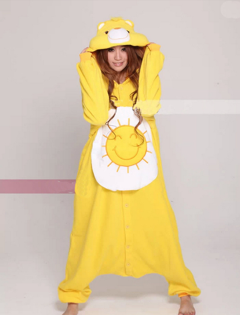 fe1d8769e45a New Adults Costume Onesies Ladies Sun Bear Onesies Ladies Mens Cute Anime Onesies  for Unisex