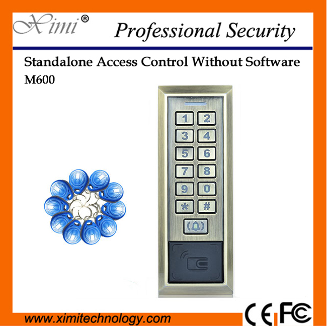 Good Quality M600 Single Door Access Control System No Software 12Vdc 125Khz Em Card Metal Access Control Reader metal rfid em card reader ip68 waterproof metal standalone door lock access control system with keypad 2000 card users capacity
