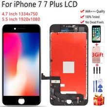 AAA الأصلي LCD آيفون 7 A1660 A1778 A1779 LCD شاشة تعمل باللمس الجمعية آيفون 7 Plus A1661 A1785 A1784 العرض