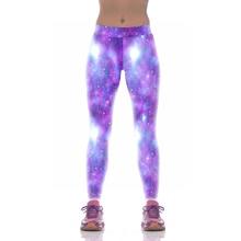 NEW 1008 Fashion Sexy Girl Women Star sky Dream Galaxy Purple 3D Prints High Waist Fitness Women Leggings Jogger Pants