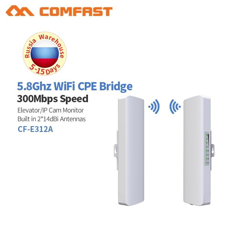 300 Mbps Haute Puissance Extérieure CPE Routeur 2 km 5.8 ghz WiFi Pont Point D'accès AP Routeur Wifi Répéteur Amplificateur extender WDS Antenne