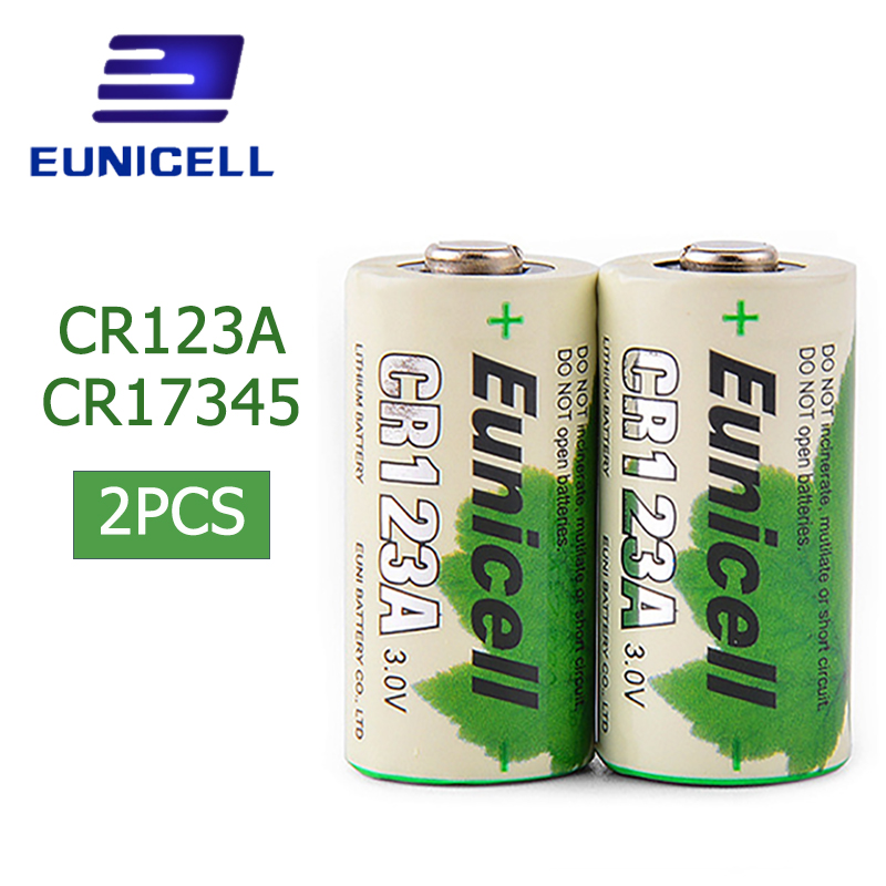 2pcs/lot CR123A 16430 CR 123A CR17345 KL23a VL123A DL123A 5018LC EL123AP SF123 3V Non-Rechargeable 1400mAh Lithium Battery