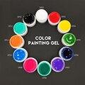 Semi Permanent Gel Ink 3D Nail Art  Drawn Painting Color Gel Vernis a Ongle Gel Glaze UV Nail Gel Polish China Nail supplier