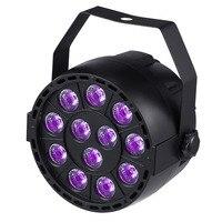 36 W UV LED Sahne Işık Ses Aktif 12 LEDs Oto DMX ultraviyole Strobe Par Disko ışık DJ Projektör Için Siyah Işıklar Parti