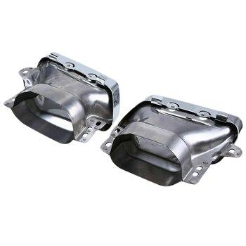 2 Pcs Carro Duplo Buraco Silenciador Tubo de Escape Para Mercedes Benz Amg W164 W221 05-13