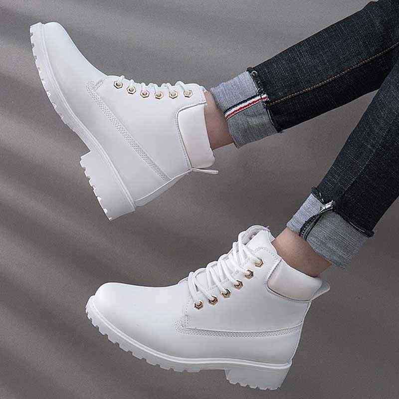 Designer Winter Knöchel Schnee Stiefel Für Frauen Weibliche Warme Pelz Weiß Stiefel Lace Up Bota Feminina Schuhe Für Frauen Botas mujer