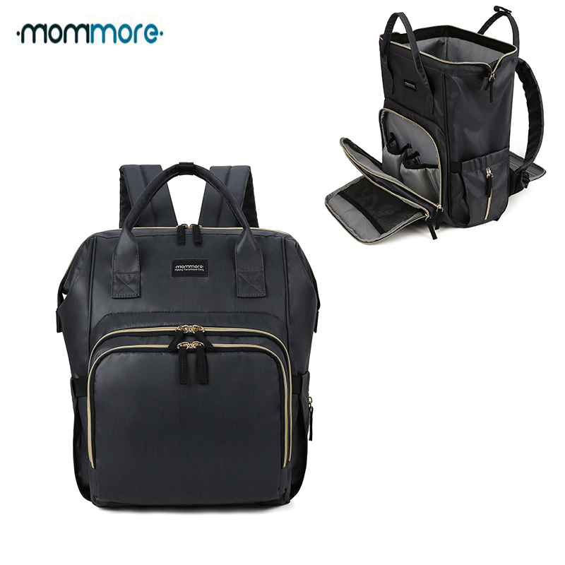 mommore Large Capacity Mummy Diaper Bag Waterproof Maternity Nappy Baby Backpack for Mom Travel Nursing Backpack for Baby Care multi function mummy diaper bag backpack fashion mom maternity nappy bag large capacity nursing baby care wetbag travel backpack