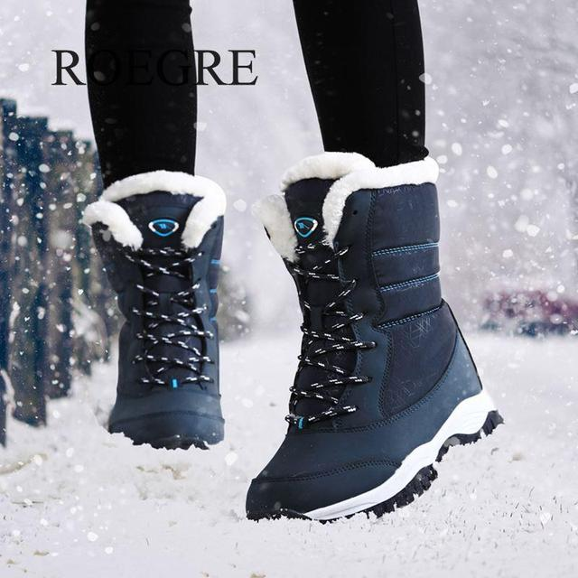 0a4dac8ad5f US $17.98 | Women boots non slip waterproof winter ankle snow boots women  platform winter shoes with thick fur botas mujer-in Ankle Boots from Shoes  ...